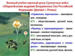 Военный учебно-научный центр Сухопутных войск «Общевойсковая академия Вооруже