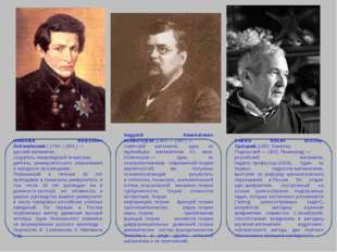 Никола́й Ива́нович Лобаче́вский(1792—1856,)— русскийматематик, создатель