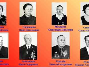 Калюлина Анна Михайловна Сушкова Ольга Фёдоровна Поткин Павел Алексеевич Кули