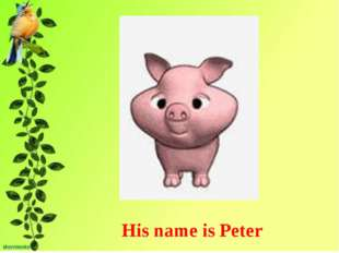 His name is Peter