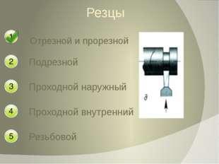 Резцы Отрезной и прорезной Подрезной Проходной внутренний Резьбовой Проходной