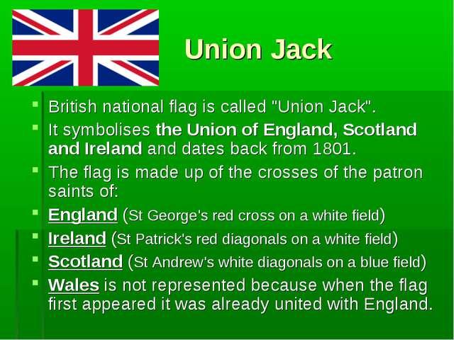 """Union Jack British national flag is called """"Union Jack"""". It symbolises the U..."""