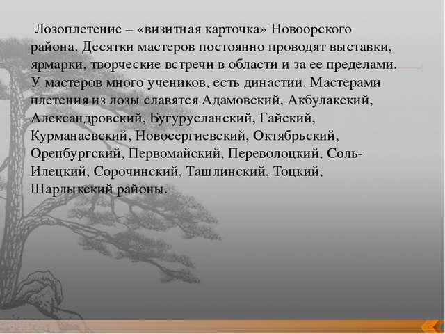 Лозоплетение – «визитная карточка» Новоорского района. Десятки мастеров пост...