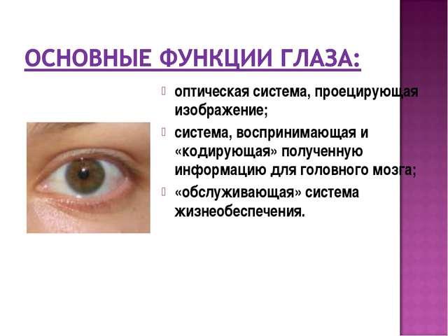 оптическая система, проецирующая изображение; система, воспринимающая и «коди...