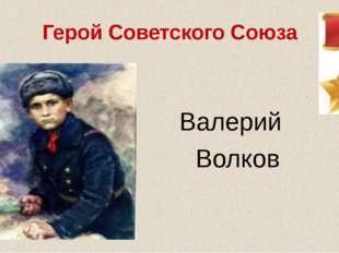 Герой Советского Союза Валерий Волков