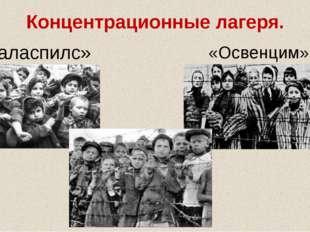 Концентрационные лагеря. «Освенцим» «Саласпилс»