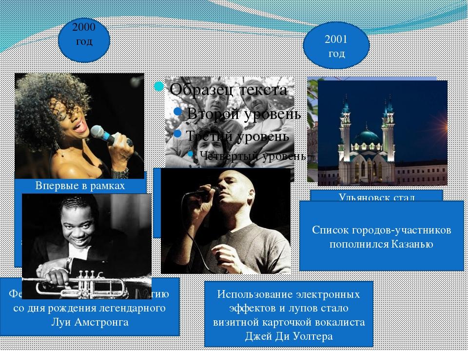 2000 год 2000 год Впервые в рамках фестиваля выступала одна из наиболее вост...