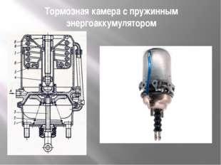 Тормозная камера с пружинным энергоаккумулятором