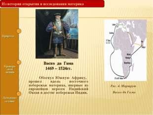 Васко да Гама 1469 – 1524гг. Обогнул Южную Африку, прошел вдоль восточного по