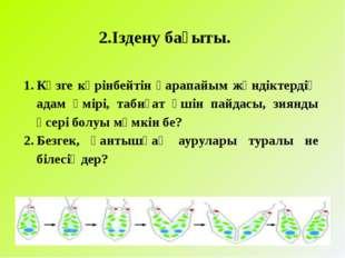 2.Іздену бағыты. Көзге көрінбейтін қарапайым жәндіктердің адам өмірі, табиға