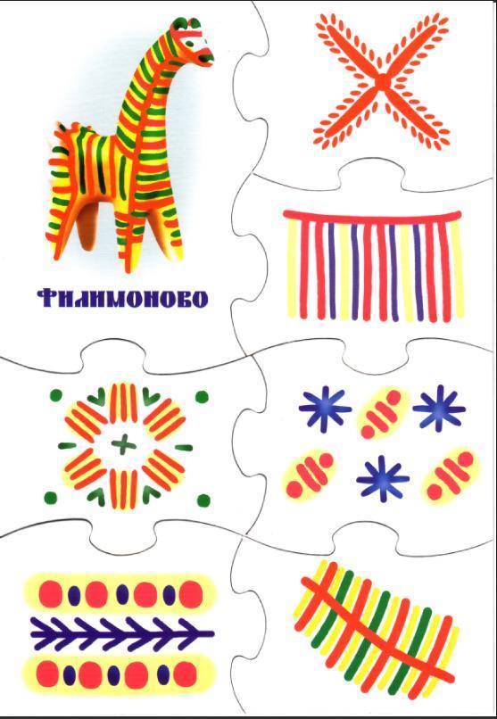 Народные росписи для дошкольников