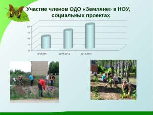 Участие членов ОДО «Земляне» в НОУ, социальных проектах