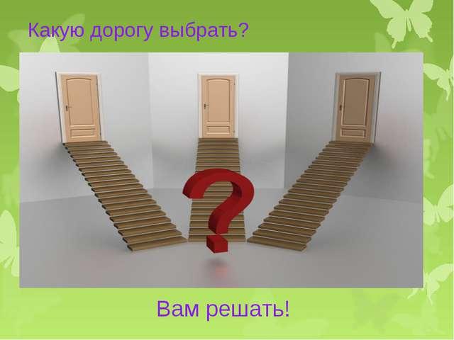 Какую дорогу выбрать? Вам решать!