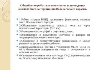 Общий план работы по выявлению и ликвидации опасных мест на территории Волоча