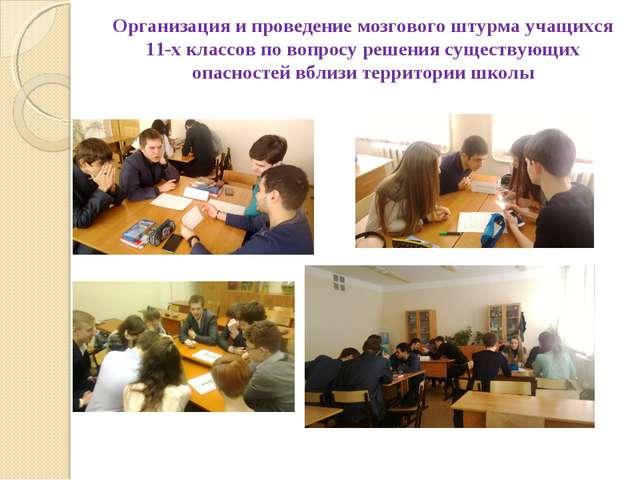 Организация и проведение мозгового штурма учащихся 11-х классов по вопросу ре...