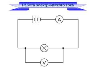 Работа электрического тока А V