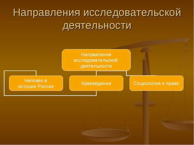 Направления исследовательской деятельности