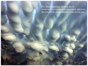 Эти своеобразные облака часто появляются в районе штормового фронта. Механизм