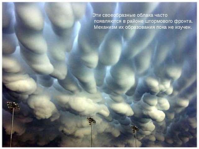 Эти своеобразные облака часто появляются в районе штормового фронта. Механизм...