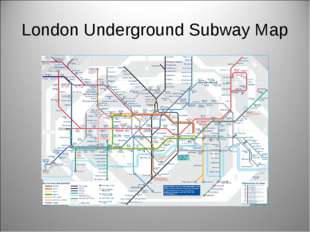London Underground Subway Map