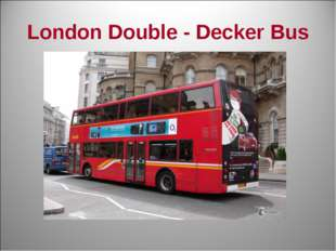 London Double - Decker Bus