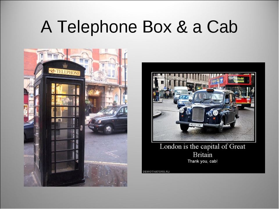 A Telephone Box & a Cab