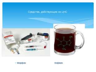 Морфин Кофеин Средства, действующие на ЦНС