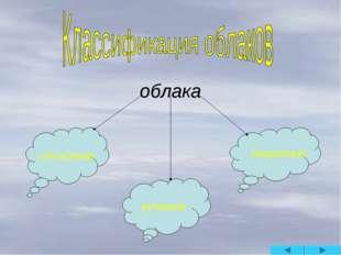 облака слоистые кучевые перистые