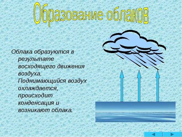 Облака образуются в результате восходящего движения воздуха. Поднимающийся во...