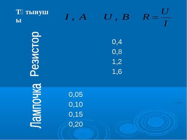 Тұтынушы  0,4 0,8 1,2 1,6 0,05 0,10 0,15 0,20