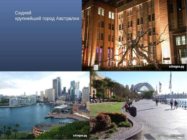 Сидней крупнейший город Австралии