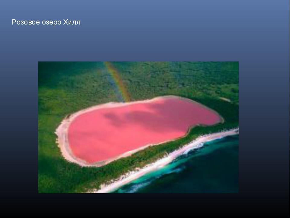 Розовое озеро Хилл