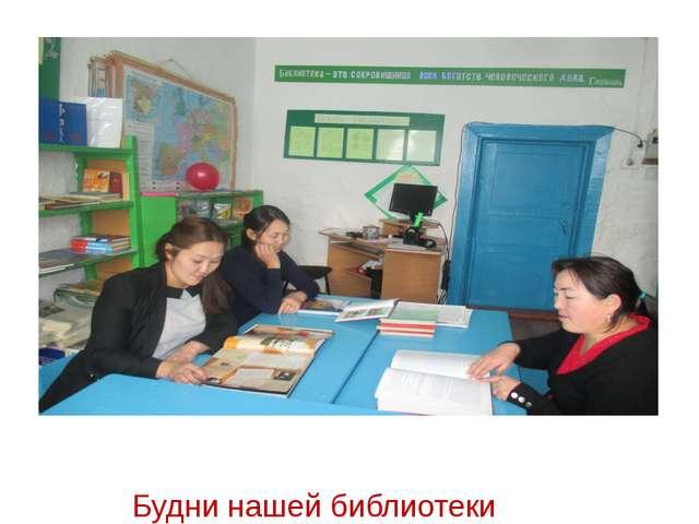 Будни нашей библиотеки