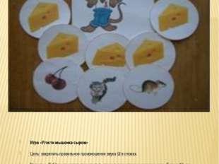 Игра «Угости мышонка сыром» Цель: закрепить правильное произношение звука Ш в