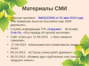Материалы СМИ «Орская хроника» №65(22394) от 01 мая 2010 года «На Кумакских в