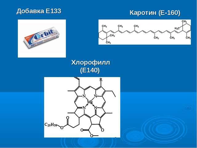 Добавка Е133 Хлорофилл (Е140) Каротин (Е-160)