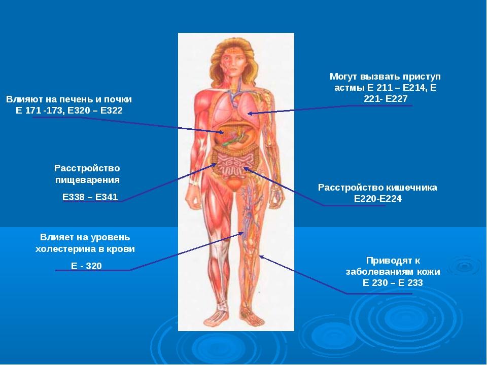 Расстройство кишечника Е220-Е224 Расстройство пищеварения Е338 – Е341 Влияют...