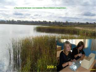 «Экологическое состояние Восточного водоема» 2008 г.