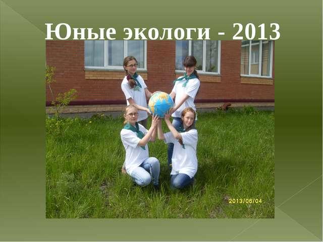 Юные экологи - 2013