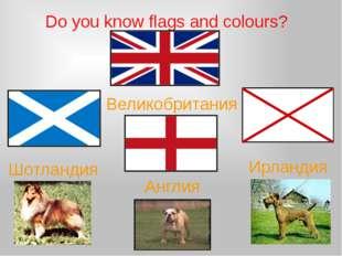 Do you know flags and colours? Шотландия Англия Ирландия Великобритания