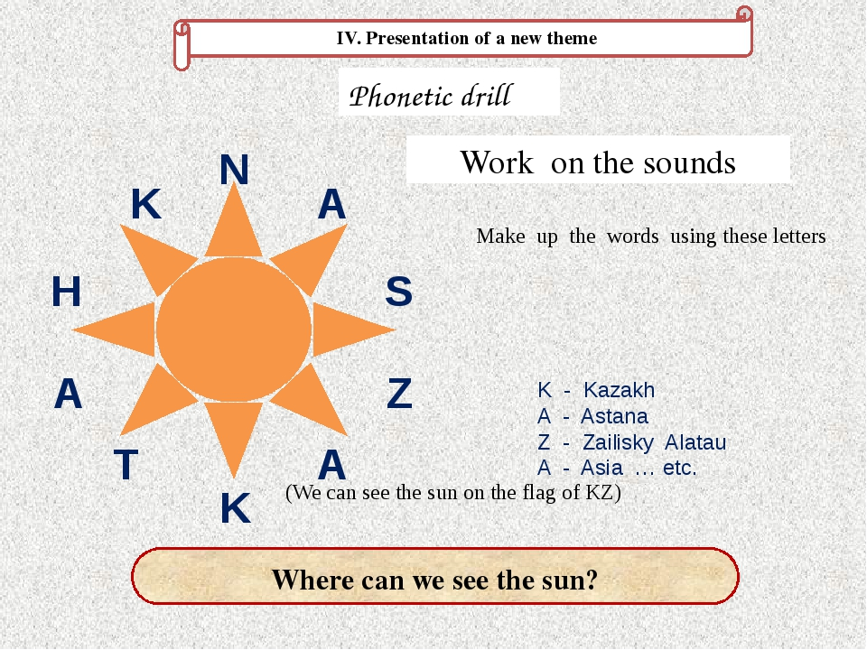 (We can see the sun on the flag of KZ)