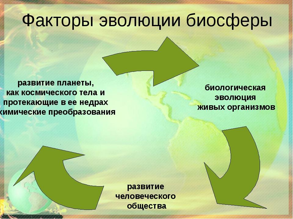 Факторы эволюции биосферы