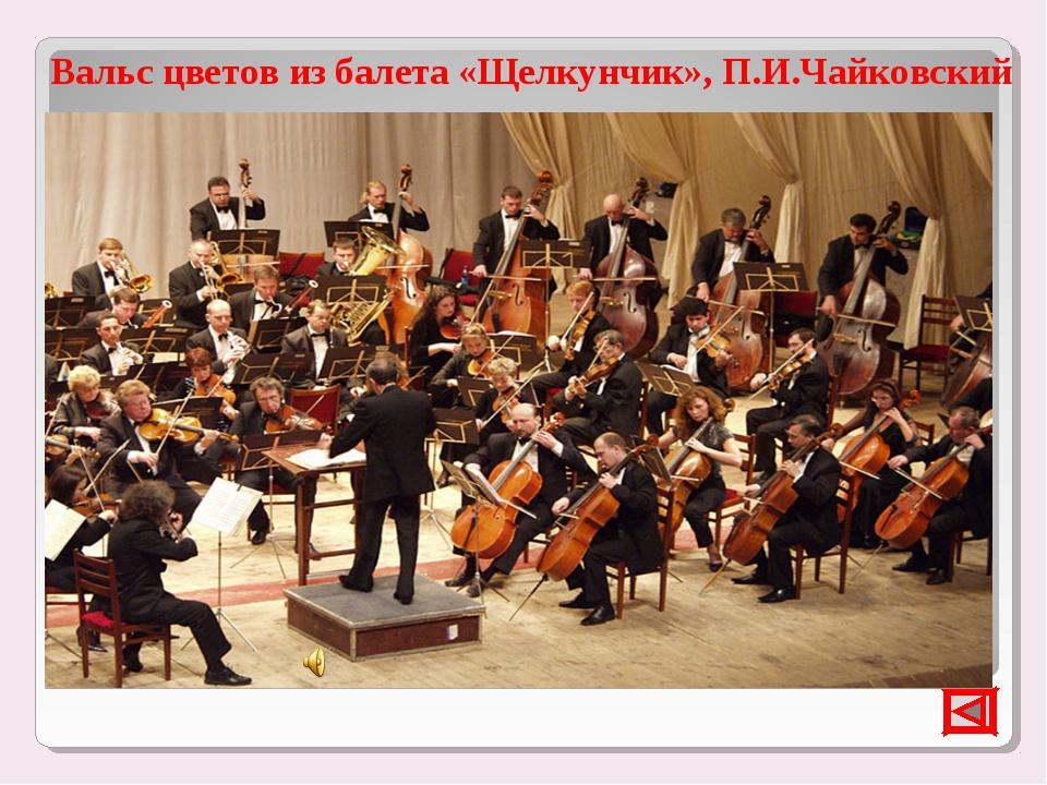 Вальс цветов из балета «Щелкунчик», П.И.Чайковский