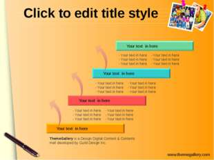 Click to edit title style Your text in here Your text in here Your text in he