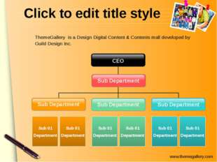 Click to edit title style Sub Department Sub Department Sub 01 Department Sub