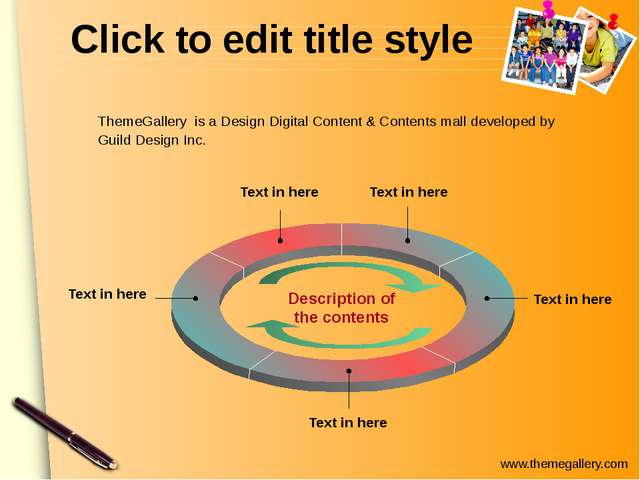 Click to edit title style Text in here Text in here Text in here Text in here...