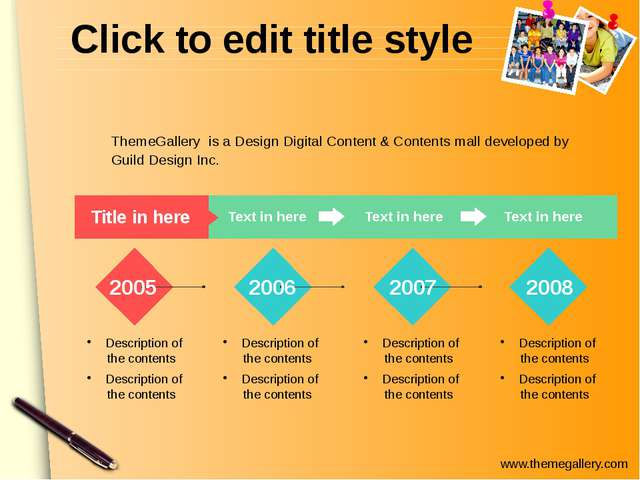 Click to edit title style Text in here Title in here Text in here Text in her...