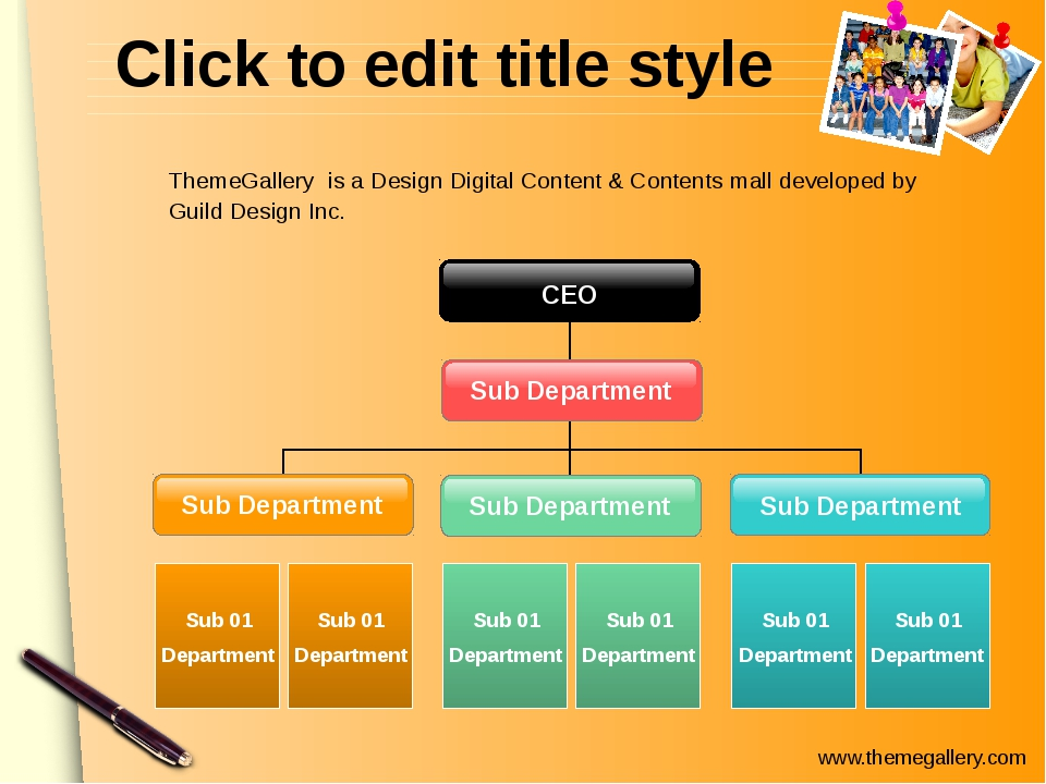 Click to edit title style Sub Department Sub Department Sub 01 Department Sub...