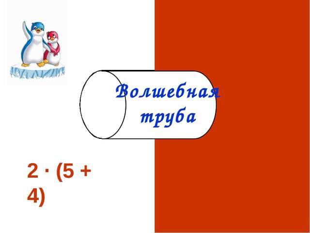 2 · (5 + 4) 18600 Волшебная труба