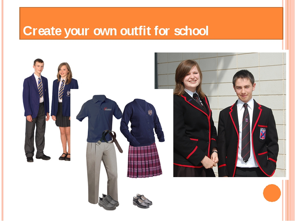 Create your own outfit for school